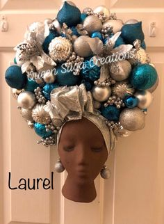 Wreath Crafts, Diy Wreath, Ornament Wreath, Creative Money Gifts, Creative Crafts, Rose Gold Christmas Decorations, Arte Black, Christmas Tree Dress, African Crafts