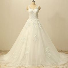 White Wedding Dress,A Line Wedding Dresses,Wedding Gown