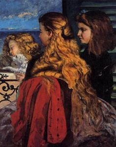 Omaggio a Gustave Courbet -  #DayAfterART #Venice Three English Girls at a Window, 1865  http://bit.ly/18GCSaj