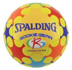 Spalding Rookie Gear Soccer Ball (Yellow) by Spalding. $14.09. Amazon.com                Introduce your child to the fast-paced action of the beautiful game with Spalding's Rookie Gear soccer ball, which is specifically engineered for kids ages 8 and under. Weighing 25 percent less than standard size 3 balls, this Rookie Gear ball is designed to help your child build sound fundamental skills right out of the gate. Parents and coaches can immediately notice improvements in ki...