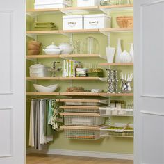 Small Kitchen Organizing Ideas - Compact Pantry and Laundry - Click Pic for 42 DIY Kitchen Organization Ideas & Tips Small Kitchen Storage, Kitchen Pantry, Kitchen Organization, New Kitchen, Kitchen Organizers, Closet Organization, Kitchen Post, Kitchen Photos, Pantry Shelving