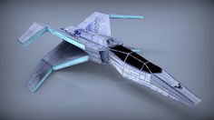 Spaceship Lowpoly 3D Model Game ready .obj .fbx - CGTrader.com