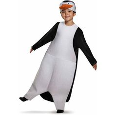Penguins of Madagascar Skipper Classic Child Halloween Dress Up / Role Play Costume, Girl's, Size: Small, Black