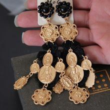 New European baroque medusa head gold pendant earrings fashion luxury Lace big earrings Free shipping(China (Mainland))