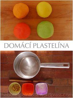 DOMÁCÍ PLASTELÍNA – recept pro extra jasné barvy | thebulletpointkids | Bloglovin' Creative Kids, Slime, Kids Playing, Play Dough, Clays, Montessori, Child, Boys Playing, Boys
