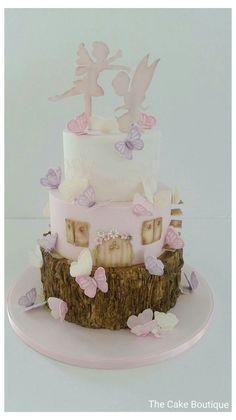 Fairy Birthday Cake, Butterfly Birthday Party, Happy Birthday Cakes, Birthday Cake Girls, Birthday Ideas, Happy Birthday Princess Cake, 21st Birthday, Fairy Garden Cake, Garden Cakes