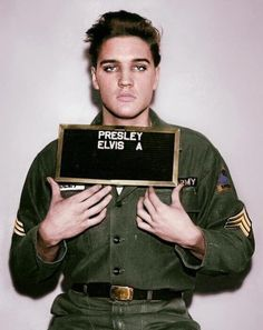 United States Army photo of Elvis Presley 1960.