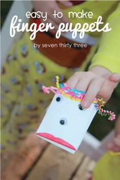 Easy to Make Finger Puppets! My wheels are turning!