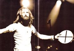 """Phil Collins back in his Charles Manson days :P  - 1977 on the Genesis """"Wind And Wuthering"""" tour."""