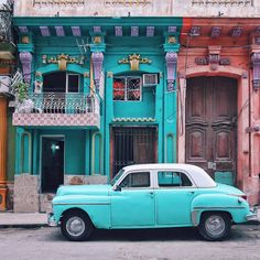 Havana, Cuba by Sezgi Olgac Tiny House Movement // Tiny Living // Tiny House on Wheels // Traveling Tiny House // Dream Big Travel More // Tiny Home Places Around The World, The Places Youll Go, Places To Go, Varadero Cuba, Havana Cuba, Belize, Trinidad E Tobago, Places To Travel, Travel Destinations
