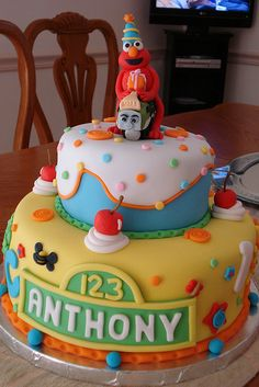 I sent this pic to a local bakery to get a quote & was told $92 to serve 30 people!  Good Lord!  I can't justify spending almost $100 on my daughter's b-day cake!  So I'm making Elmo cupcakes - we'll see how THAT goes!