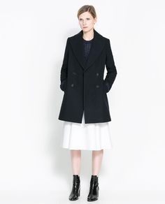 ZARA - WOMAN - DOUBLE BREASTED WOOL COAT