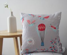 Bumble Bee Balloon cushion cover - in light pebble grey - free UK postage Pebble Grey, Free Uk, Repeating Patterns, Summer Days, Baby Shower Gifts, Balloons, Bee, Wings, Cushions