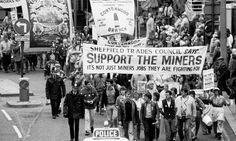 Sheffield Trades Council march - miners' strike 1984  #socialsheffield #sheffield