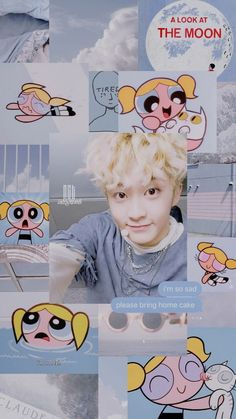 #nctu #nct127 #nctdream #mark Mark Lee, Aesthetic Backgrounds, Aesthetic Wallpapers, Nct 127, Look At The Moon, I Luv U, Fandoms, I Wallpaper, Powerpuff Girls