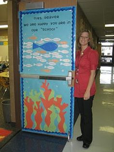 Door decorated for Teacher Appreciation