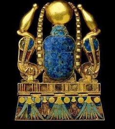 Found in artifacts dating to the predynastic Naqada II (3500-3100 BC) time period throughout the rest of ancient Egypt's long history, lapis lazuli appears to have been one of the most popular gem stones in the ancient culture.   Known as KHESBED, the stone was used in jewelry, in effigies, in amulets, and even in medicines