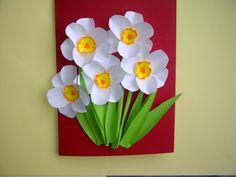 Ideen: Schöne Geschenke zum Muttertag. 3D Blumenkarten (Osterglocken, Na...