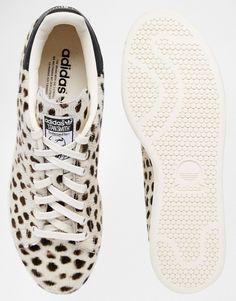 the best attitude 29b13 b6d32 adidas Originals Cheetah Print Pony Stan Smith Trainers