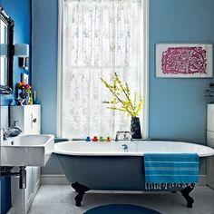 Modernen blauen Bad Wohnideen Badezimmer Living Ideas Bathroom