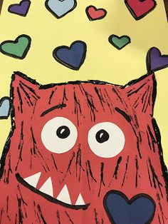 Elements of the Art Room: 1st grade Love Monsters