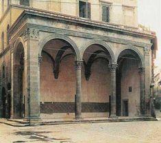 22. Loggia Rucellai. Construida frente al palacio, 1460, desdeñada también por Alberti, tenia la función de servir de sala de recepción.