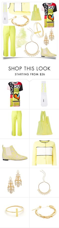 """Stage before tacky"" by emmamegan-5678 ❤ liked on Polyvore featuring Boutique Moschino, Off-White, BAGGU, Bams, Tory Burch, Kendra Scott, Jennifer Meyer Jewelry, Gorjana and modern"