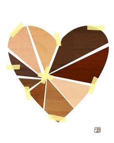Items similar to Mending Hearts, Art Print, Diversity Art, Activism Heart Illustration. Multicultural Artwork on Etsy Heart Illustration, Digital Illustration, Small Art, Heart Art, Black Art, Love Art, Diversity, Bunt, Art Projects