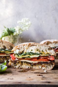 Marinated Veggie & Cheese Sandwich | halfbakedharvest