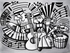 Músicos I - A/S/T - 130x100cm Artista: Renato STEGUN