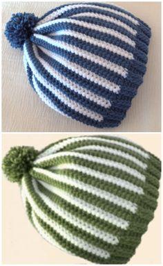 Crochet A Striped Beanie For Beginners