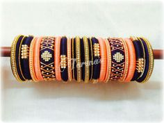 Craft Gifts For Father - Fantastic Present Strategies To Order, Pls What's App On 91 9704084116 Silk Thread Bangles Design, Silk Thread Necklace, Silk Bangles, Bridal Bangles, Thread Jewellery, Jewellery Diy, Bangles Making, Jewelry Making, Silk Art