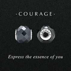 Historically believed to bring courage in struggle. In a faceted cut, the metallic lustre of man-made hematite conveys a stylish look. #PANDORAessencecollection #PANDORAcharm #Courage