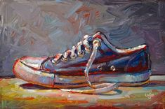 """Black Low Chuck"" - Original Fine Art for Sale - © Raymond Logan"