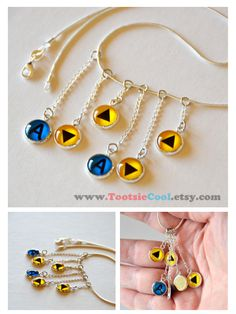 The Legend of Zelda - #OoT Song of Storm Dangle Necklace - By ArtShell #DIY craft