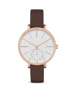 Skagen Hagen Leather Watch, 34mm