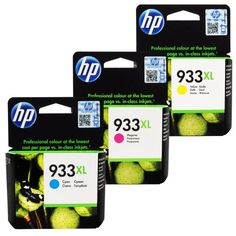 HP 933XL High Yield Officejet Ink Cartridges (Cyan / Magenta / Yellow) (CR316BN)  HP 933XL High Yield Officejet Ink Cartridges (Cyan / Magenta / Yellow) (CR316BN) Get impressive color and professional-looking black text for your documents. Preserve your memories with photos that resist fading for generations, compared with less than a year for store brand inks. Rely on HP for consistent, high-quality results.  http://www.newofficestore.com/hp-933xl-high-yield-officejet-ink-cartridg..