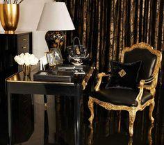 Ralph Lauren black & gold interior...
