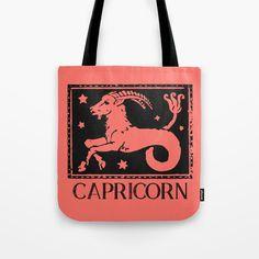 Capricorn Vintage Zodiac Tote Bag Image