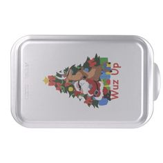 Cool Santa And Reindeer Cake Pan http://www.zazzle.com/cool_santa_and_reindeer_cake_pan-256801169801441000?rf=238271513374472230  #christmas  #christmasdécor