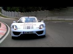 Porsche 918 Spyder Hybrid Supercar.   Successful test on the Nürburgring.