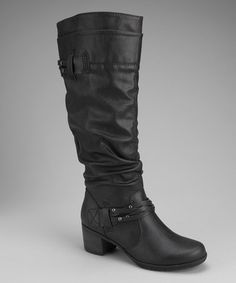 Take a look at this White Mountain Black Entrust Boot by White Mountain & Cliff by White Mountain on #zulily today!