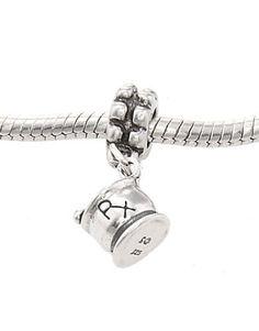 Sterling Silver Three Dimensional Rx Mortar and Pestle Pharmacy Dangling European Bead Charm $26.99 #Lgu