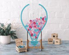 Hot air balloon Air Balloon Guest Book Balloon Hearts Guest | Etsy Transparent Balloons, Seashell Wedding, Personalized Wedding Guest Book, Balloon Shapes, Wedding Guest Book Alternatives, Sea Theme, Etsy Shipping, Alternative Wedding