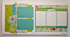 pin 1 of 4... (pages 1 & 2)... 8-page Layout Workshop by Pam Thorn using CTMH Blossom paper