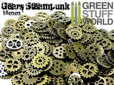 SteamPunk ROUAGES Set 85gr  Taille 15mm  par GreenStuffWorld