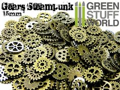 SteamPunk ROUAGES Set 85gr  Taille 15mm  par GreenStuffWorld