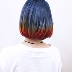 Bob Hair Color, Vivid Hair Color, Hair Dye Colors, Half Colored Hair, Short Blue Hair, Pelo Multicolor, Hair Shows, Pastel Hair, Hair Today