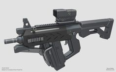 Compact SMG, Bruce Bailey on ArtStation at https://www.artstation.com/artwork/compact-smg