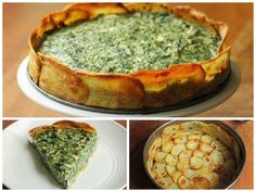 Spinach pie with potatoes Vegetarian Recipes, Cooking Recipes, Healthy Recipes, Salty Foods, International Recipes, No Cook Meals, Food Inspiration, Love Food, Healthy Snacks